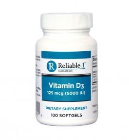 Reliable 1 Labs Vitamin D3 High Potency 5000 Iu Softgels 100ct
