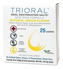 Trioral Oral Rehydration Salts, 0.72g- 25 Packets (Lemon Flavor)