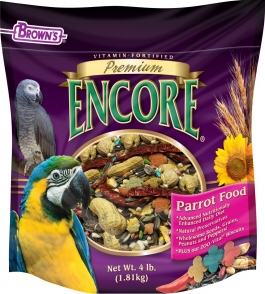 F.M. Brown's Encore Premium Parrot Food - 4lb Bag
