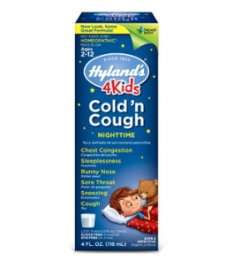 Hyland's 4Kids Cold 'n Cough Nightime Liquid  - 4oz