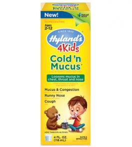 Hyland's 4Kids Cold 'n Mucus Liquid  - 4oz