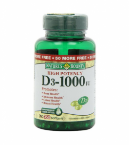 Nature's Bounty Vitamin D-3 1000 IU Softgels  - 350ct