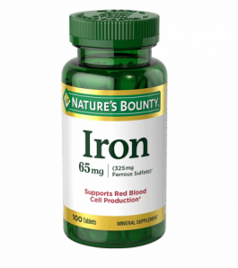 Nature's Bounty Iron 65mg Tablets 100ct