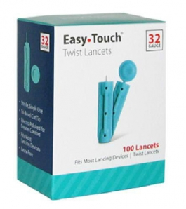 EasyTouch Twist Lancet 32 Gauge - 100ct