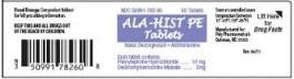 Ala Hist PE Allergy Tablets- 60ct