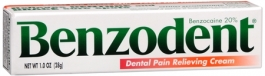 Benzodent Dental Pain Relieving Cream - 1oz