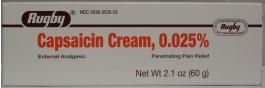 Capsaicin Cream, 0.025%- 60gm