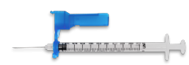 "EasyTouch® Fliplock Safety Syringe w/Exchangeable Needle, 23 Gauge, 3cc, 1.5"" - 100ct"