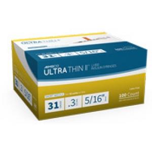 Aimsco Ultra Thin Ii Insulin Syringe 31 Gauge 3cc 5 16