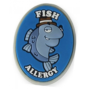 Allermates Fish Allergy Charm For Multi Allergy Wristband
