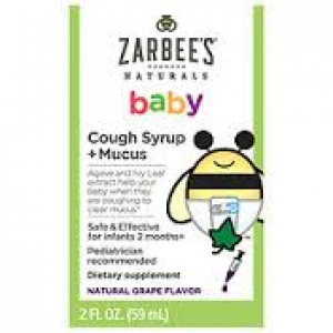 Zarbee S Naturals Baby Cough Syrup Mucus Reducer Grape 2oz