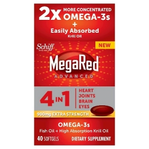 Schiff megared advanced 4 in 1 extra strength 900 mg for Omega fish oil advanced support