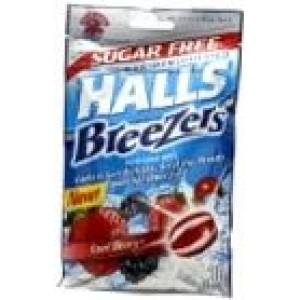 Halls Breezers Non Mentholated Sugar Free Cool Berry 20 Drops