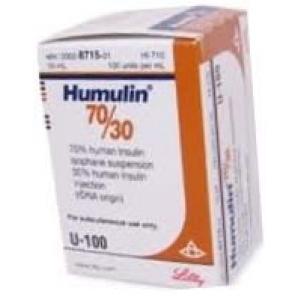 Humulin 70/30, 100 units/mL - 10 mL Vial