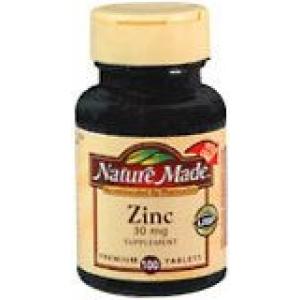 Nature Made Zinc 30 mg Tablets 100ct