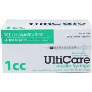 """UltiCare Insulin Syringe, 31 Gauge, 1cc, 5/16"""" Needle ..."""