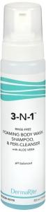 Dermarite 3 In 1 Rinse-free Cleansing Foam 7.5 Oz.
