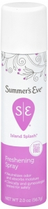 Summers Eve Feminine Deodorant Spray Island Splash 2 oz