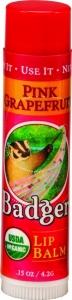 Badger Lip Balm, Pink Grapefruit - .15oz Stick