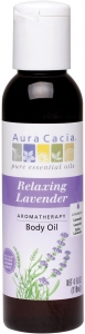 Aura Cacia Aromatherapy Body Oil, Relaxing Lavender, 4 Oz