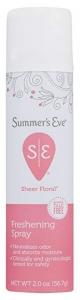 Summer's Eve Simply Sheer Floral Freshing Spray, 2 oz