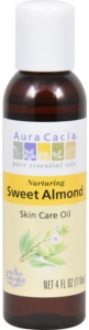 Aura Cacia Sweet Almond Natural Skin Care Oil - 4 oz