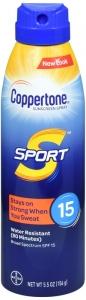 Coppertone® Sport Broad Spectrum SPF 15 Sunscreen Spray 5.5 oz.