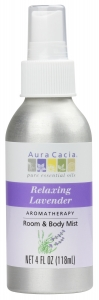 Aura Cacia Aromatherapy Mist For Room and Body Lavender - 4 oz.
