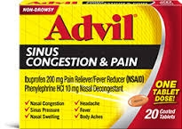 Advil Congestion Relief Tablet- 20ct