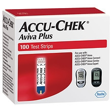 Accu-Chek Aviva Plus Blood Glucose Test Strips - 100ct