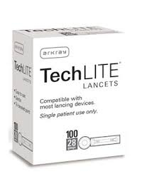 Techlite Lancets 28g- 100ct (1-3 Units)