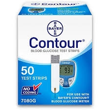 Bayer Contour Blood Glucose Test Strips- 50ct