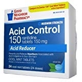 GNP Ranitidine Acid Reducer 150mg Tablets, Mint 24ct