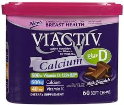 Viactiv® Calcium Plus D Soft Chews, Milk Chocolate- 60ct