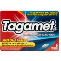 Tagamet HB Acid Reducer Tablets, 200mg- 6ct