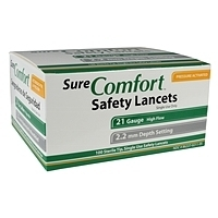 SureComfort Safety Lancets 21G, 2.2mm- 100ct