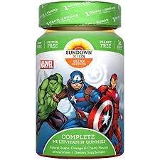Sundown Naturals Kids Avengers Complete Multivitamin Gummies, 60ct