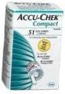 Accu-Chek Compact Diabetic Test Strips - 51 Strips