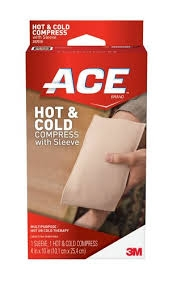 "ACE Hot & Cold Compress with Sleeve 4""x10""- 1ct"