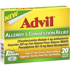 Advil Congestion Relief Caplet- 10ct ***DISCONTINUED***