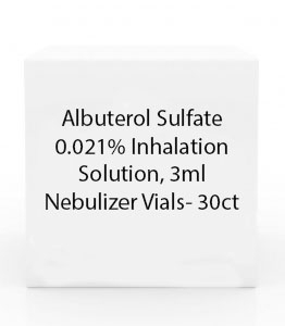 Albuterol Sulfate 0.021% Inhalation Solution, 3ml Nebulizer Vials- 30ct