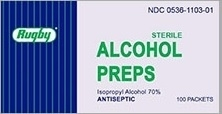 Major Rugby Alcohol Prep Pads- 100ct