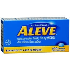 Aleve Pain Reliever/Fever Reducer Caplets- 100ct