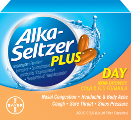 Alka Seltzer Plus Day Cold & Flu Formula - 20 Liquid Gels