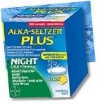 Alka-Seltzer Plus Night Cold Formula Lemon Effervescent Tabets 20ct