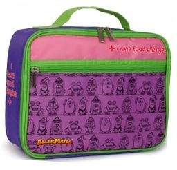 "AllerMates ""I Have Food Allergies"" Insulated Lunch Bag - Purple"