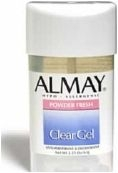 Almay Clear Antiperspirant//Deodorant Stick Hypoallergenic Powder Fresh Gel 2.25oz