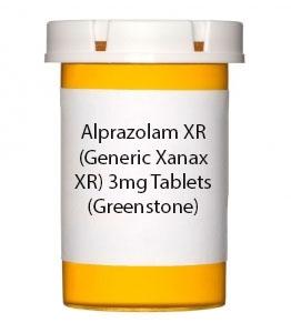Alprazolam XR (Generic Xanax XR) 3mg Tablets (Greenstone)
