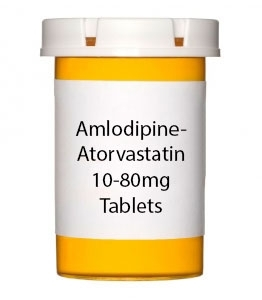 Amlodipine-Atorvastatin 10-80mg Tablets - 30 Count Bottle