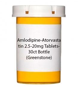 Amlodipine-Atorvastatin 2.5-20mg Tablets- 30ct Bottle (Greenstone)